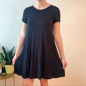 Simple Black T-Shirt Dress